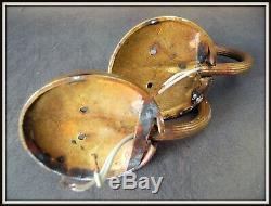 Pair Of Sconces Art Deco 1925 Bronze & Brass Attr. Paul Follot
