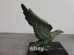 Pair Of Serre Bronze Books Art Deco Green Skate Marble And Bronze