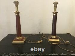 Pair Of Vintage Lampe Alpha Decor Dlg Design House Jansen Rings