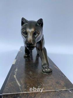 Panthere Art Deco Regul M Leducq 1871 1955 Marble Black Chocolate Skate M190