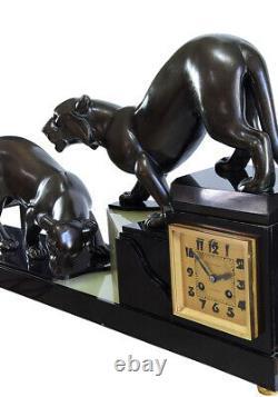 Pendule Art Deco. Kaminuhr Empire Clock Bronze Antique Clock Uhren Cartel