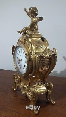 Pendulum Bronze Cartel Clock Art Collection