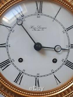 Pendulum Clock Columns Bronze Golden Hour Lavigne Paris 4kg Works