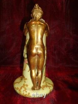 Pitcher Cruche Figure Flower Style Art Deco Style Art Nouveau Porcelaine Bronze