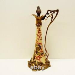 Pitcher Pitcher Flower Iris Style Art Deco Style Art Nouveau Porcelaine Bronze