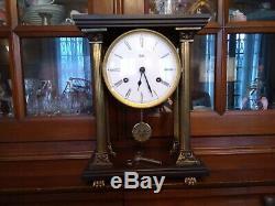 Portico Clock Pendulum Wood Columns And Bronze Brand Odo