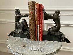 Rare Ancient Books Serre Art Deco Bronze Limousin Sign 30 Year