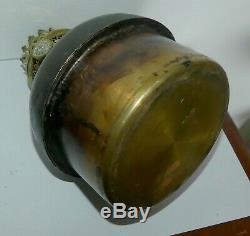 Rare Huge Oil Lamp A Bronze Napoleon III Tete De Bouc