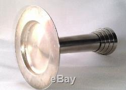 Rare Individual Candlestick Time Christofle Art Deco Bronze Silver Solid