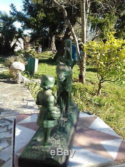Rare Pair Of Greenhouse Art Deco Bronze Books Signed Max Leverrier (1891-1973)