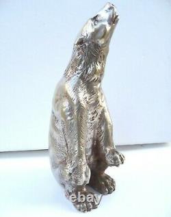 Rare Silver Bronze Art Deco Polar Bear