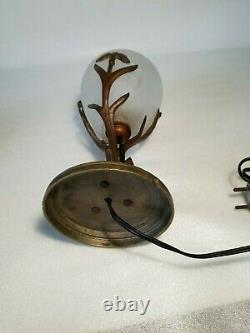 Schneider Bronze Veillous Lamp Art Deco Tulip Gill Decoration Signed