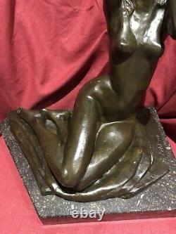 Sculpture Bronze Serge Zelikson Nu Feminin Art Deco