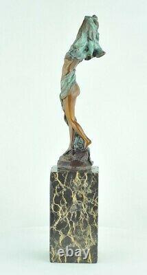 Sexy Statue Style Art Deco Style Art Nouveau Bronze Massive Sign