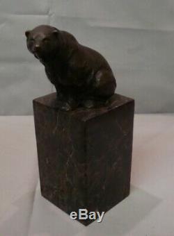 Statue Bear Style Art Deco Art Nouveau Bronze Massive
