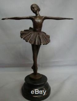 Statue Classic Style Art Deco Art Nouveau Bronze Massive Sign