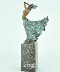 Statue Dancer Naked Style Art Deco Style Art Nouveau Massive Bronze