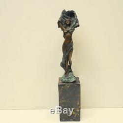 Statue Dancer Sexy Style Art Deco Style Art Nouveau Solid Bronze Sign