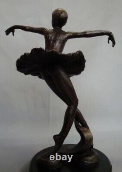 Statue Dancer Style Art Deco Style Art Nouveau Massive Bronze Sign