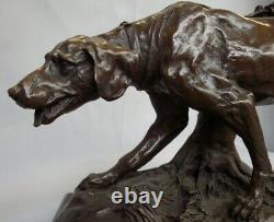 Statue Dog Hunting Art Style Deco Style Art Nouveau Massive Bronze Sign