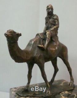 Statue Dromedary Camel Tuareg Art Deco Style Art Nouveau Bronze Massive