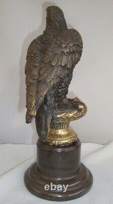 Statue Eagle Bird Style Art Deco Style Art Nouveau Massive Bronze Sign