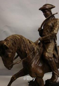 Statue Horse Hunting Animal Valet Style Art Deco Solid Bronze Sign