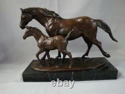 Statue Horse Style Art Deco Style Art Nouveau Massive Bronze Sign