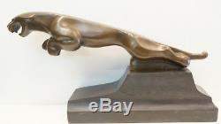 Statue Jaguar Animalier Style Art Deco Style Art Nouveau Solid Bronze