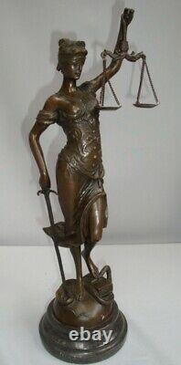 Statue Justice Themis Style Art Deco Style Art Nouveau Bronze