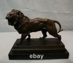 Statue Lion Style Art Deco Style Art New Massive Bronze Sign