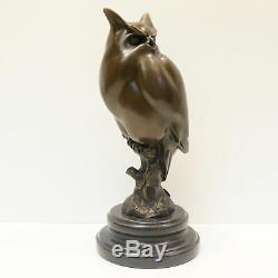 Statue Owl Owl Bird Animal Style Art Deco Solid Bronze Sign