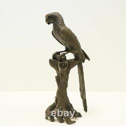 Statue Parrot Bird Animal Bird Style Art Deco Style Art Nouveau Massive Bronze