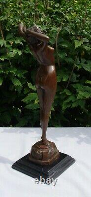 Statue Pin-up Sexy Style Art Deco Style Art New Solid Bronze Sign
