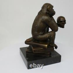 Statue Sculpture Animal Monkey Style Art Deco Massive Bronze Sign