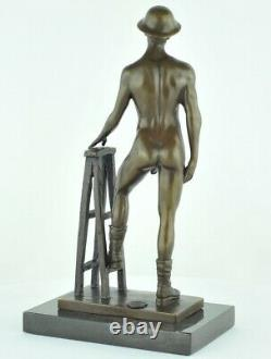 Statue Sculpture Athlete Sexy Style Art Deco Style Art New Solid Bronze