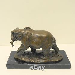 Statue Sculpture Bear Animal Style Art Deco Style Art Nouveau Solid Bronze S