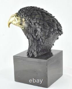 Statue Sculpture Eagle Bird Animal Style Art Deco Solid Bronze Sign