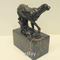 Statue Sculpture Leopard Animal Style Art Deco Art Nouveau Bronze Massi