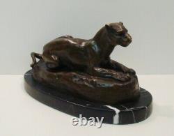 Statue Sculpture Lion Lion Animal Style Art Deco Style Art Nouveau Bronze M