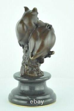 Statue Sculpture Owl Owl Animal Owl Style Art Deco Massive Bronze Sign