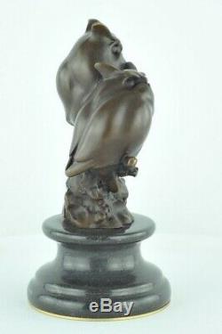 Statue Sculpture Owl Owl Animal Style Art Deco Bronze Massive Sign