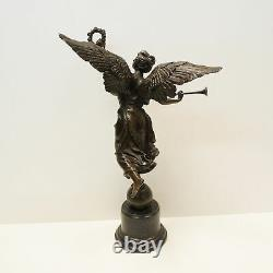 Statue Sculpture Victory Style Art Deco Style Art Nouveau Massive Bronze Sign