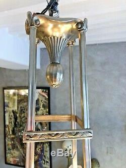 Superb Art Deco Chandelier 8 Plates