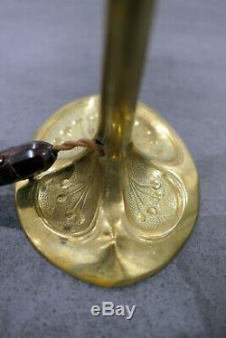Superb Bronze Lamp Foot Art Deco / New For Tulip Daum Muller Brothers