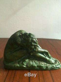 Superb Bronze Sculpture Art Deco Woman Signed