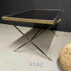 Table Basse Design Art Deco Modernist 1950 Adnet Vintage Glass Bronze Ancient