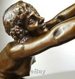 The 1910/1920 Alliot Rare Statue Sculpture Art Deco Bronze Nymph Female Nude Satyr