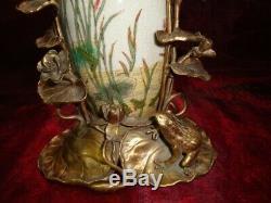 Vase Frog Elf Fee Style Art Deco Art Nouveau Porcelain Bronze