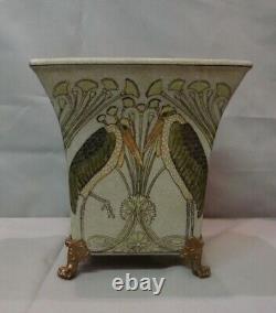 Vase Marabout Bird Style Art Deco Style Art Nouveau Porcelaine Bronze